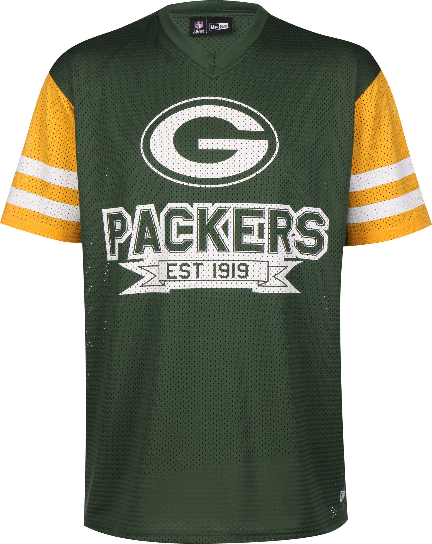 NFL Contrast Sleeve Oversized Green Bay Packers