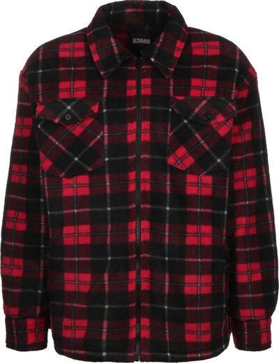 Plaid Teddy Lined Shirt