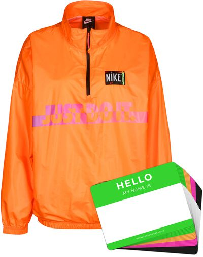 Nike Wash Jacket Woven + HELLO Neon-Stickerpack | Orange Pack