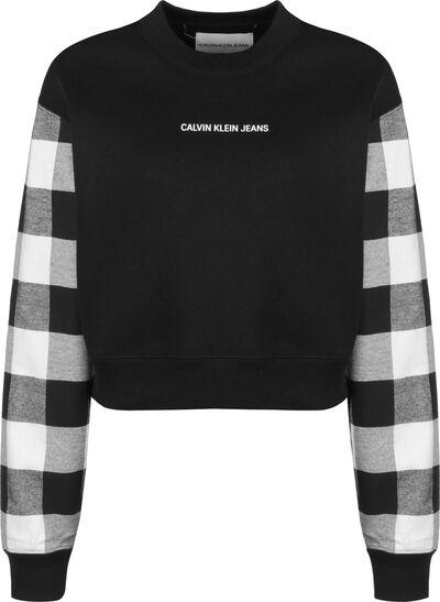 Buffalo Check Sleeve Crop W