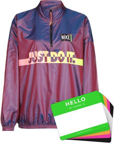 Nike Wash Jacket Woven + HELLO Neon-Stickerpack | Fuchsia Pack