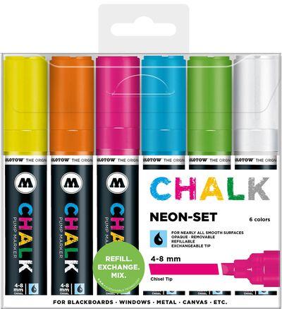 Chalk 4-8 mm Neon Set