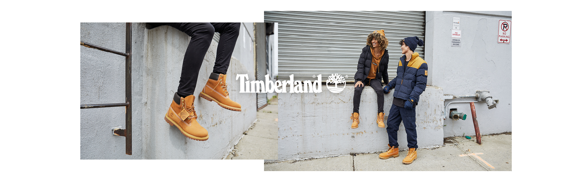 Model wears Timberland Boots