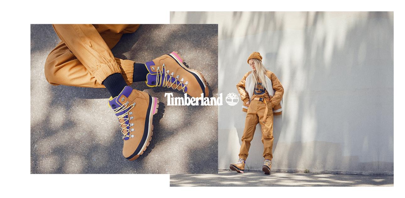Models wear Timberland Boots