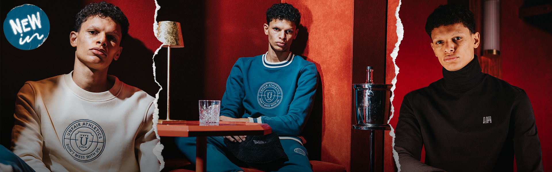 Model wears apparel of Inner Circle collection from Unfair Athletics
